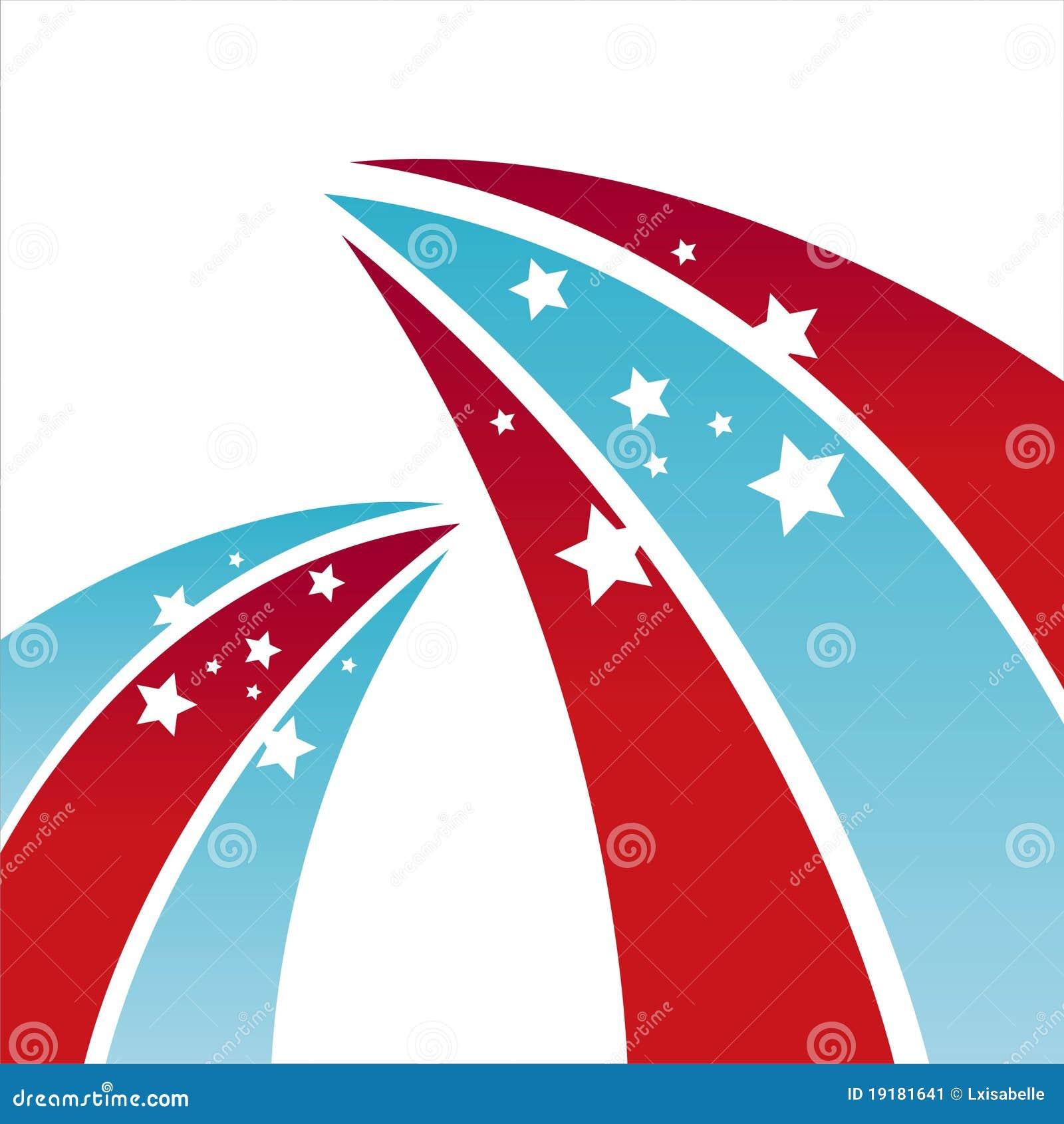 Amerikansk kulör stjärnabakgrund