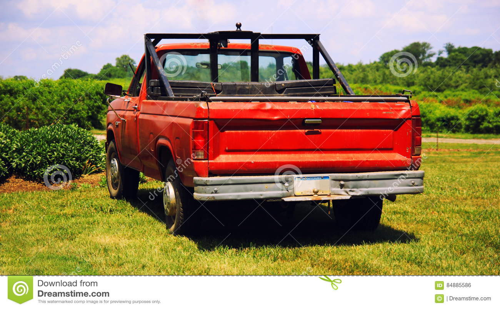 Amerikansk lastbil för röd tappning