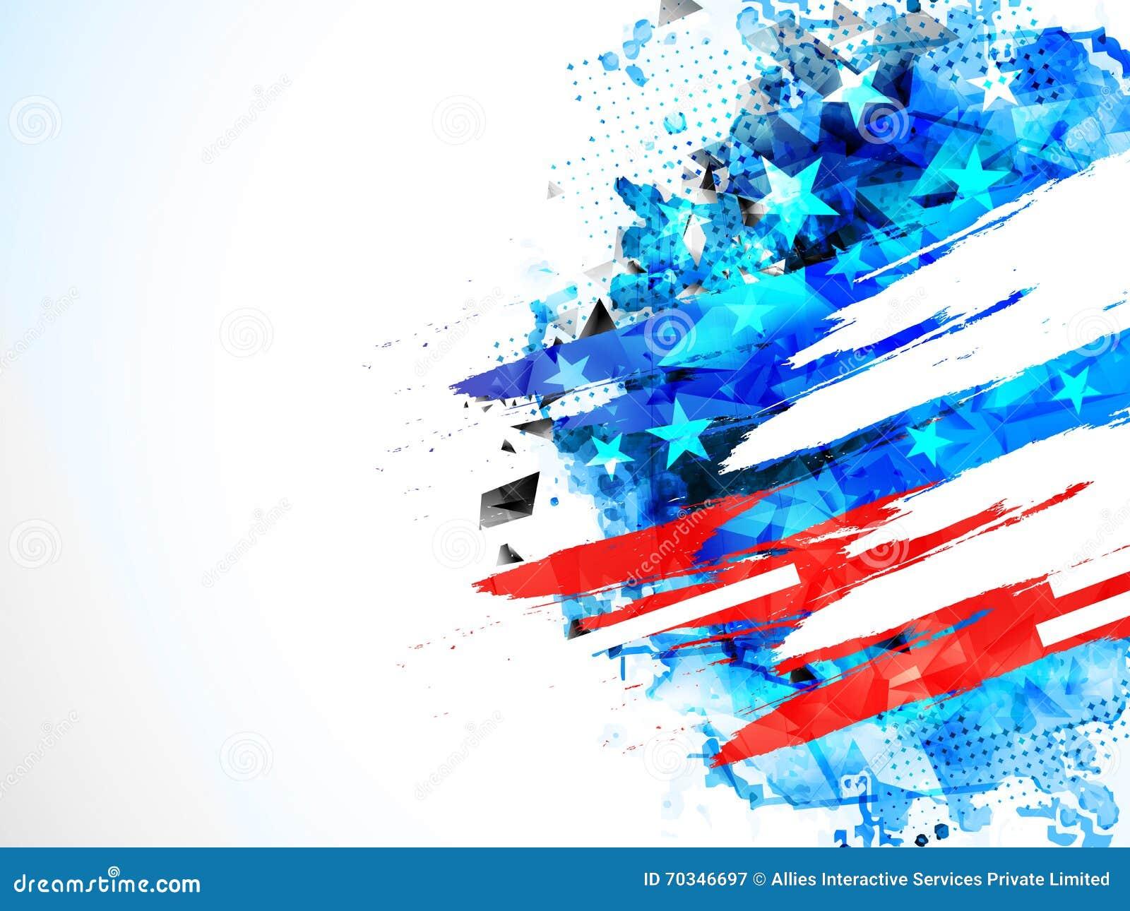 Amerikansk självständighetsdagenberömbakgrund