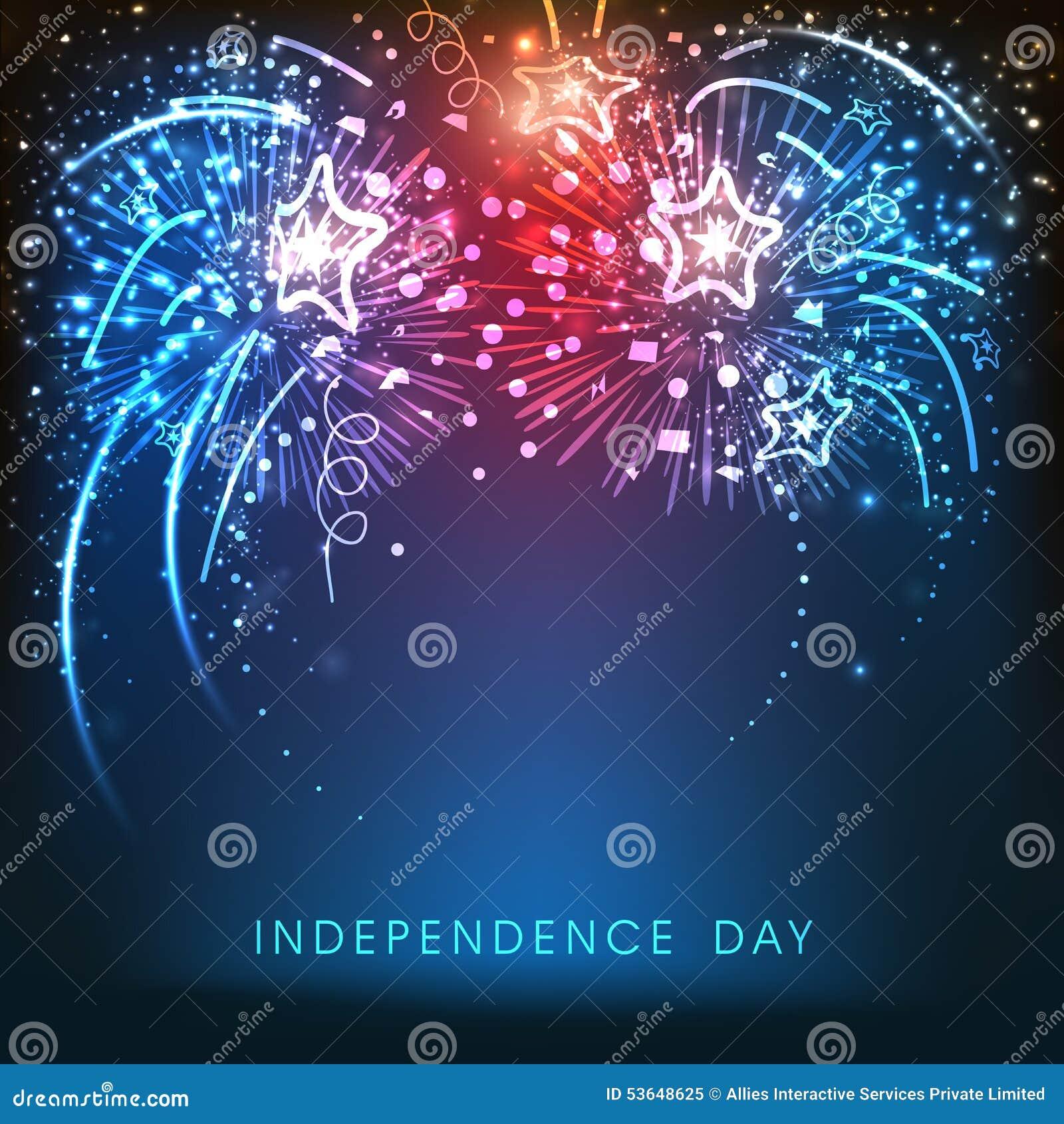 Amerikansk självständighetsdagenberömbakgrund med fyrverkerier
