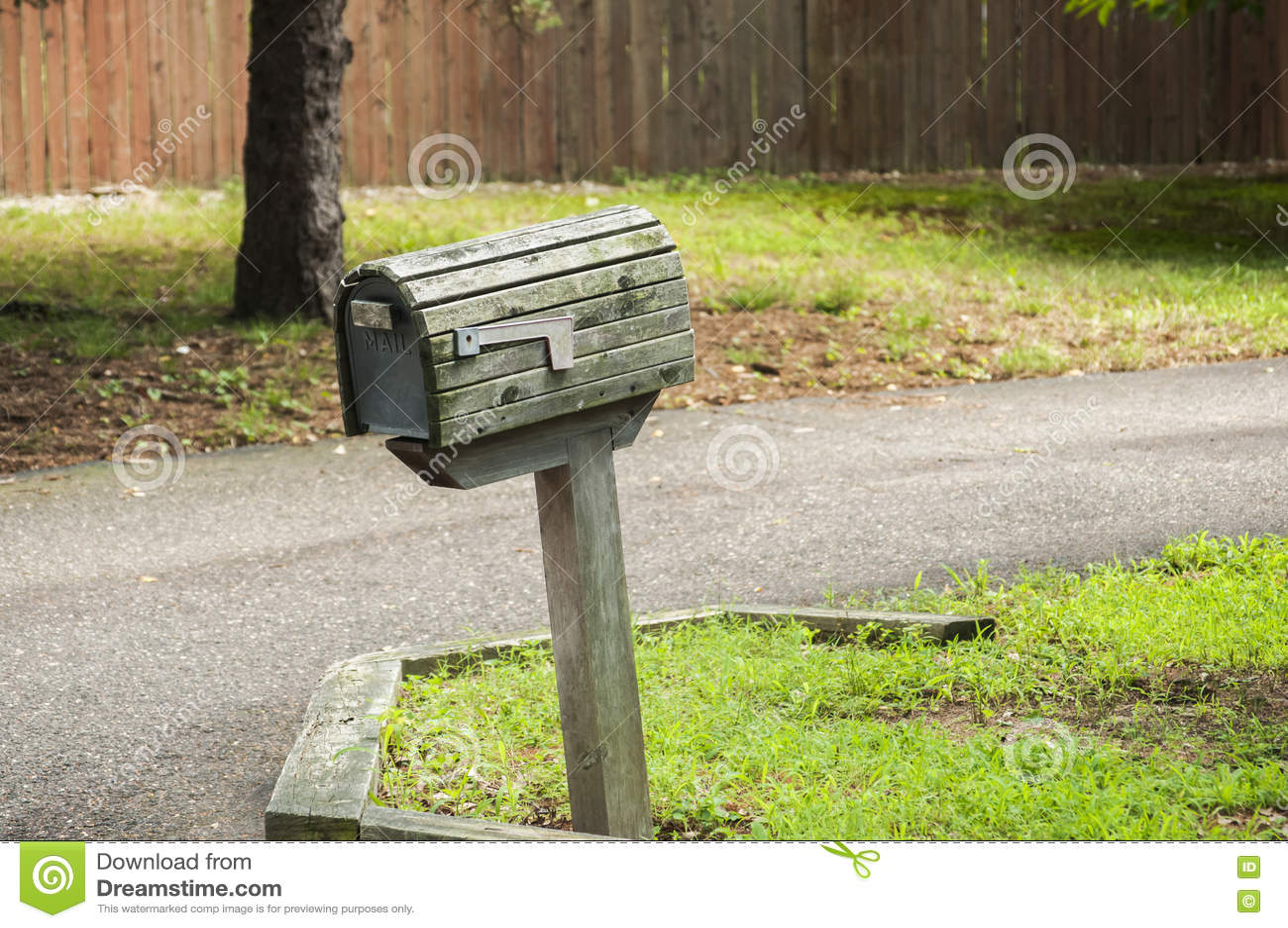 Amerikansk utomhus- brevlåda