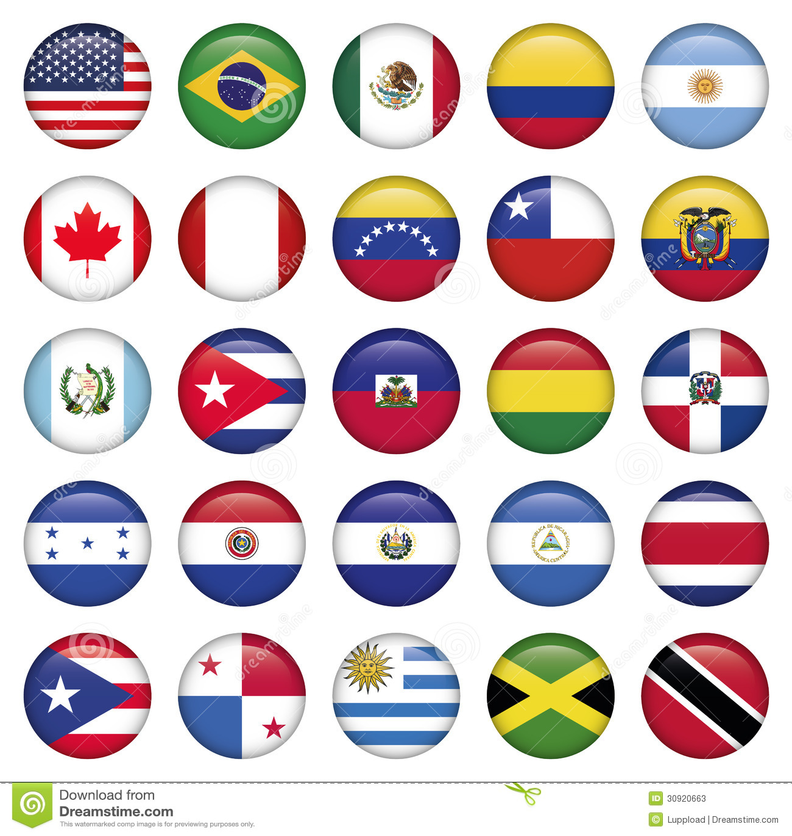 Amerikanska flaggan rundar symboler