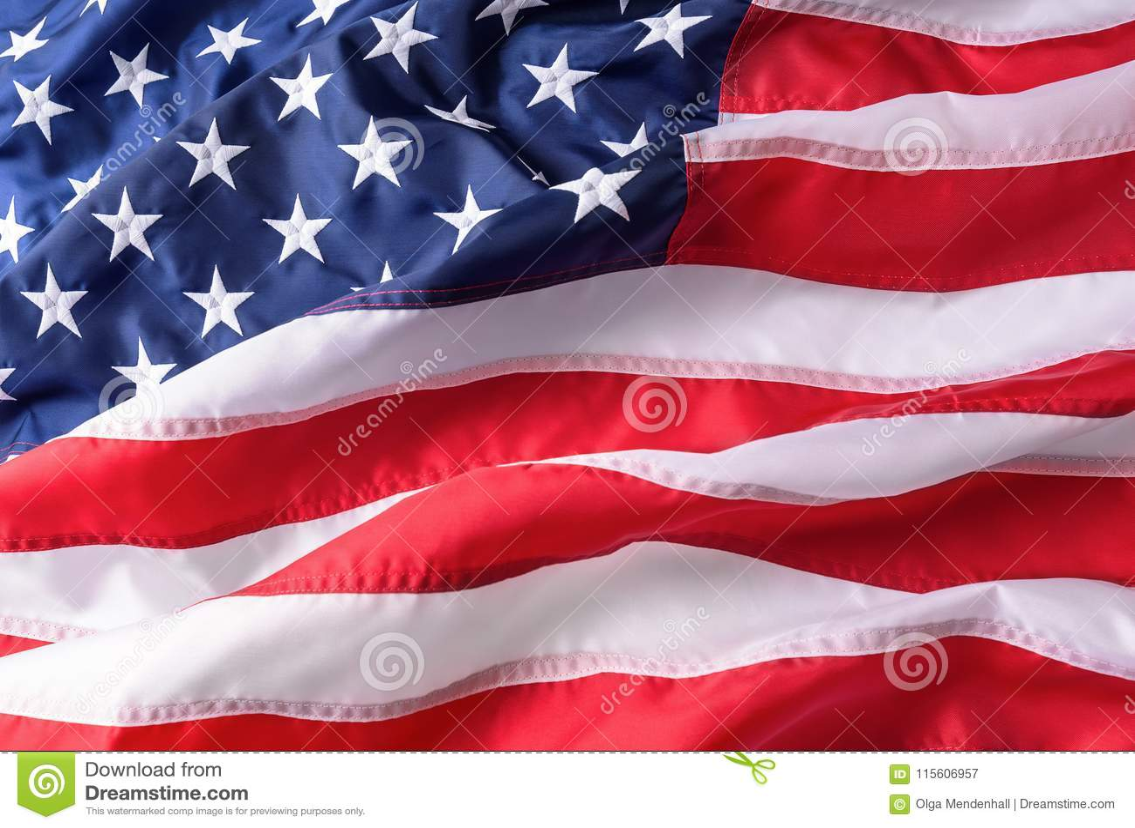 Amerikanska flagganbakgrundstextur våg wind för amerikanska flaggan