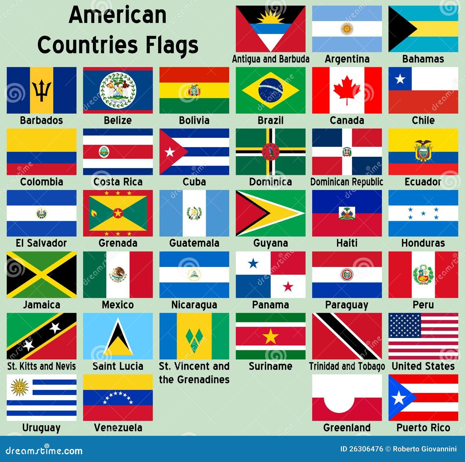Amerikanska landsflaggor
