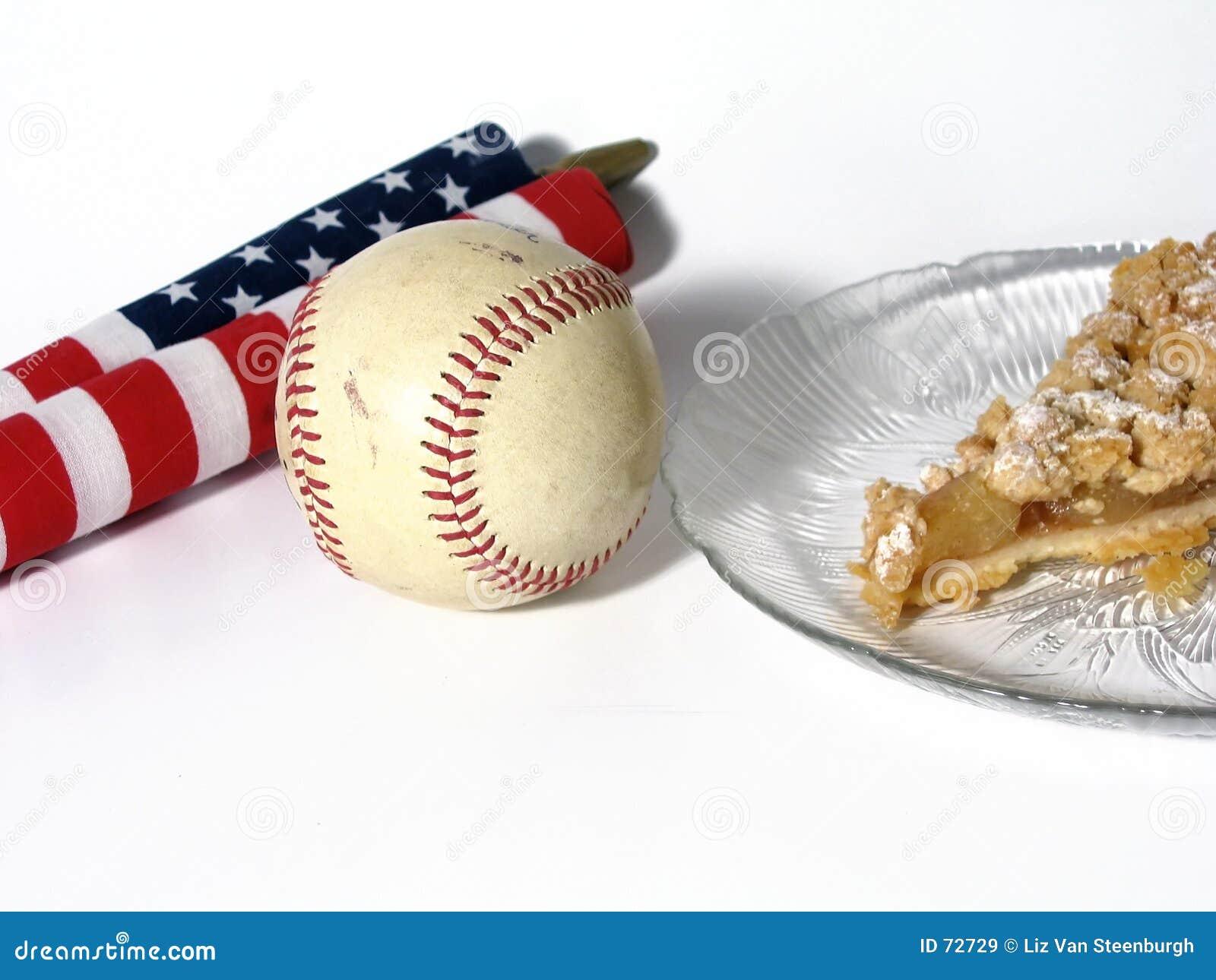 Amerikanskt äpple som baseballpien