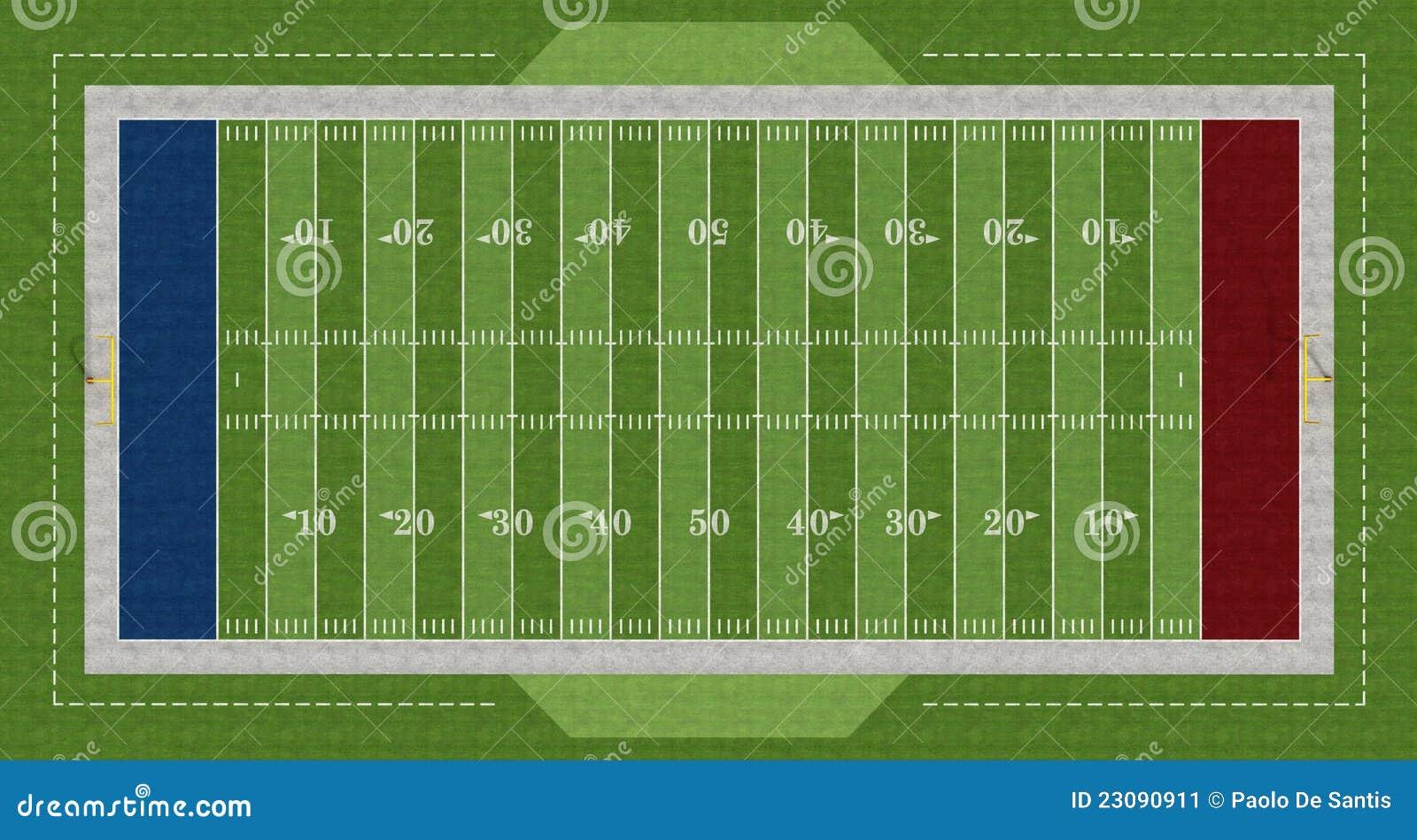 Amerikanskt fotbollfält