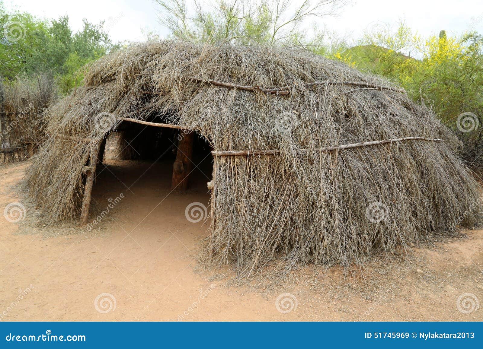 Indiskt Jordhus För Amerikanska Slättar. Fotografering för