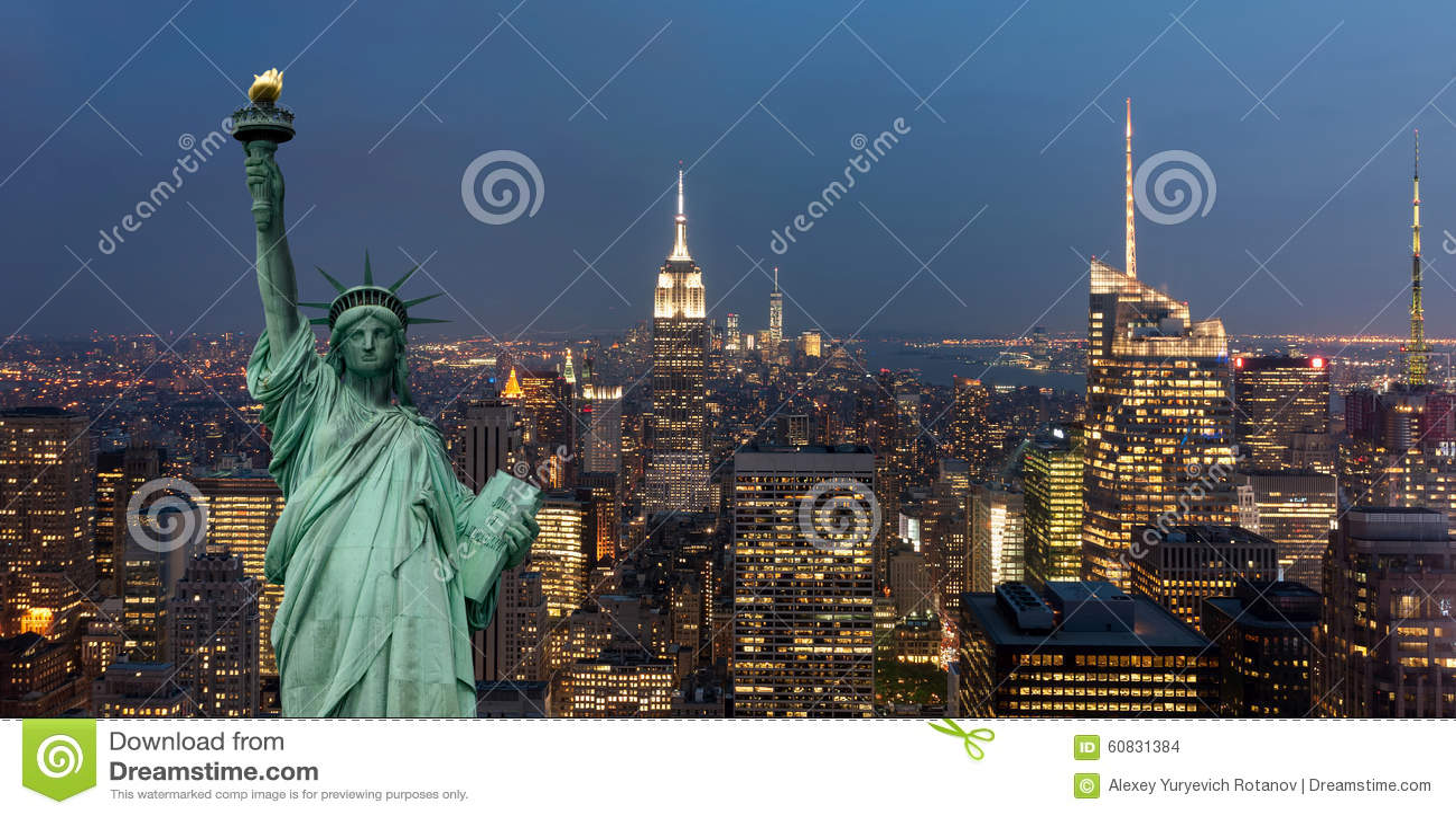 Amerikas förenta staterbegrepp med statyn av frihetbegreppet