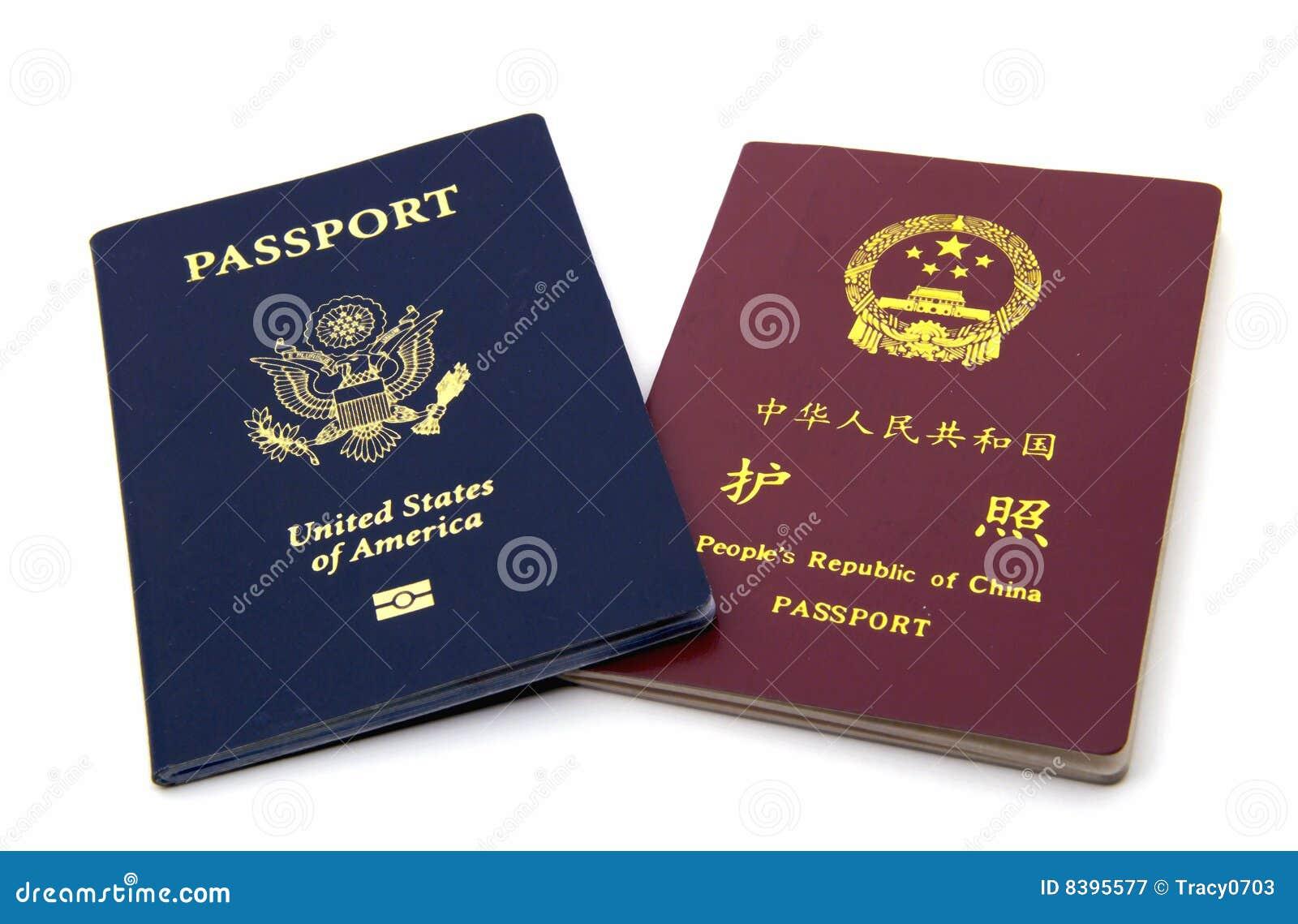 Amerykańscy chińscy paszporty