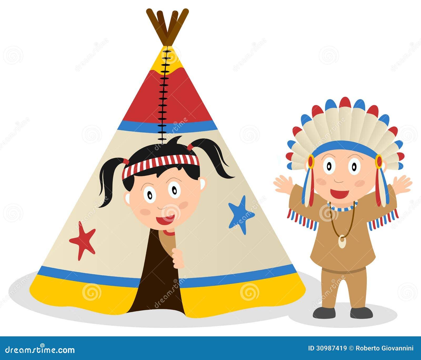 Amerykańscy indianie i Tepee