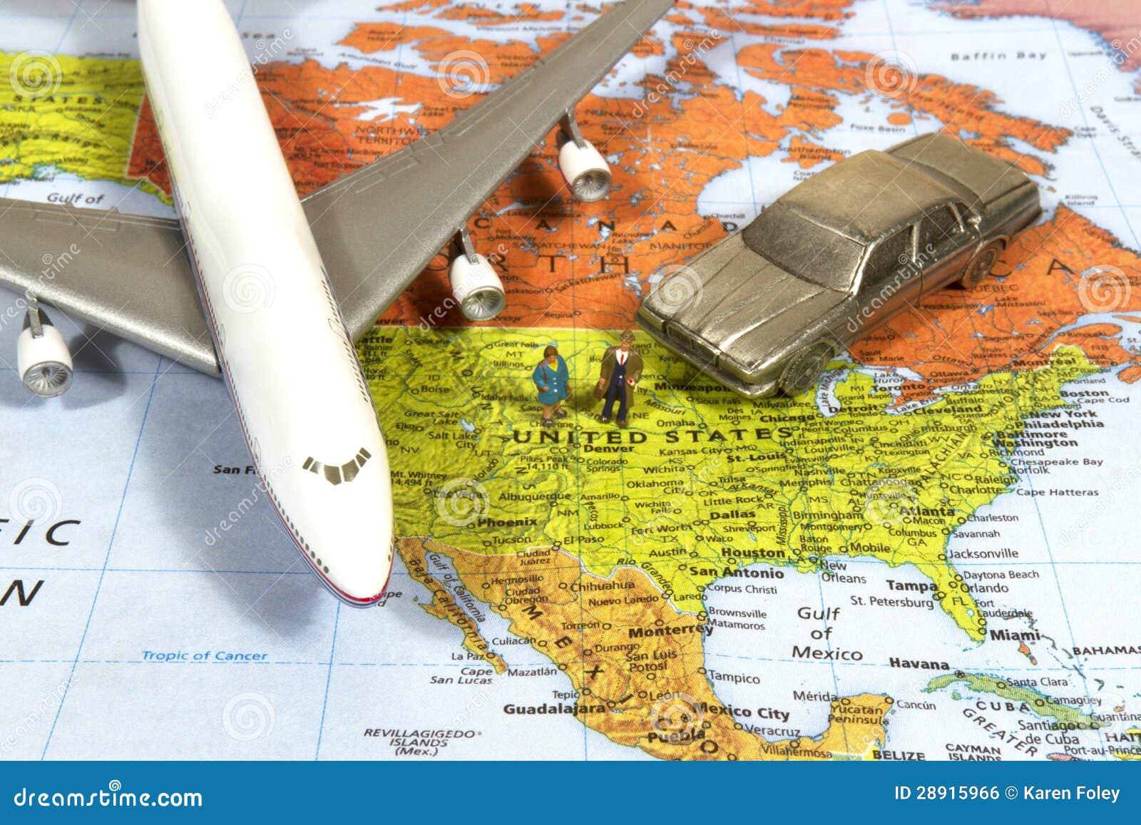 Amerykańska Biznesowa podróż