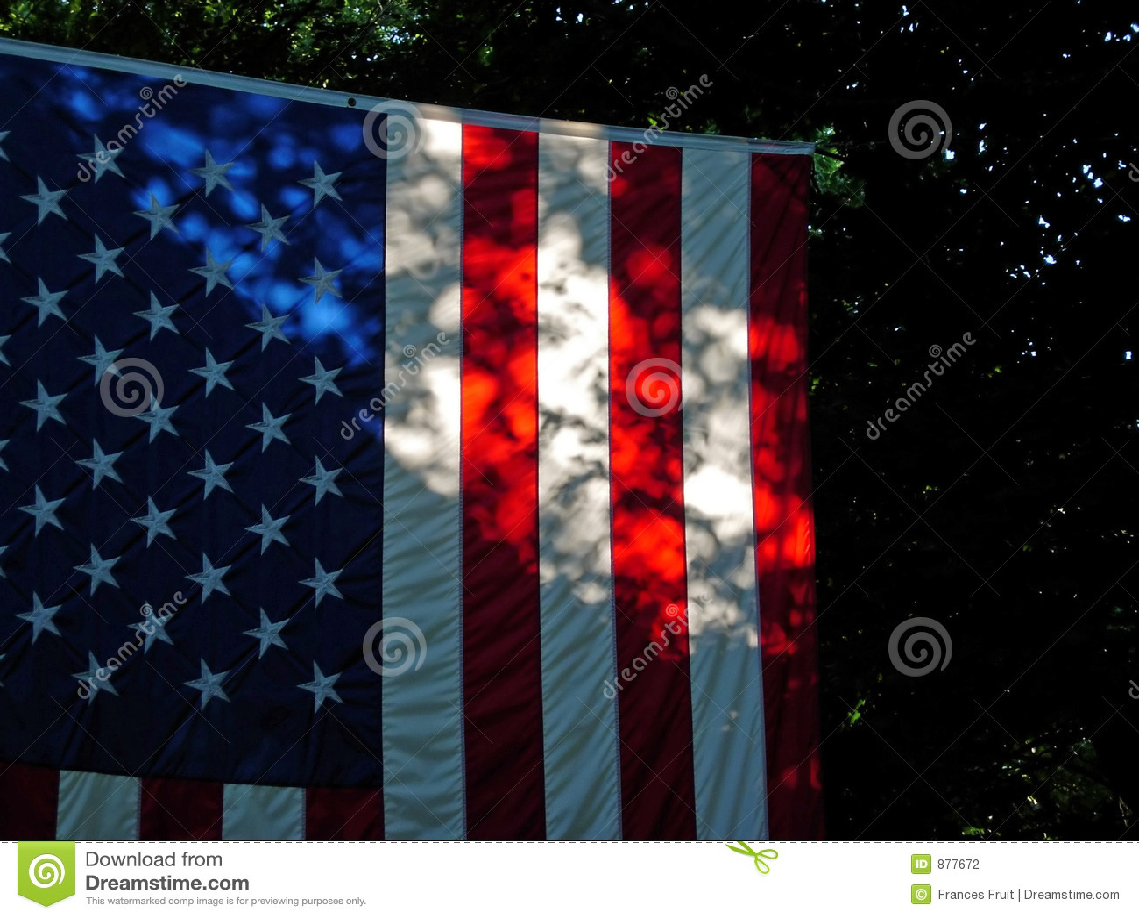 Amerykańska flaga cienie