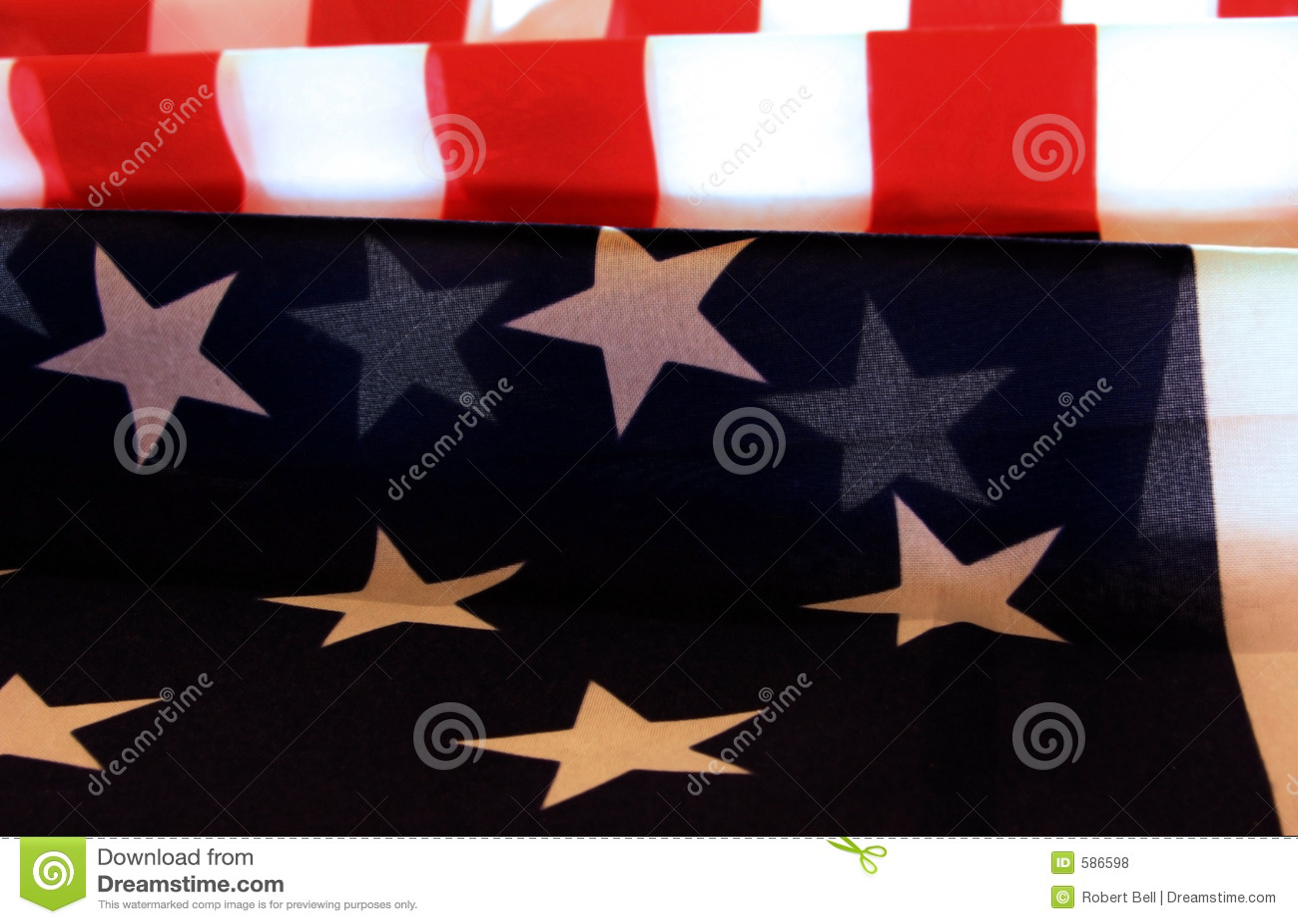 Amerykańska flaga patriotyczna