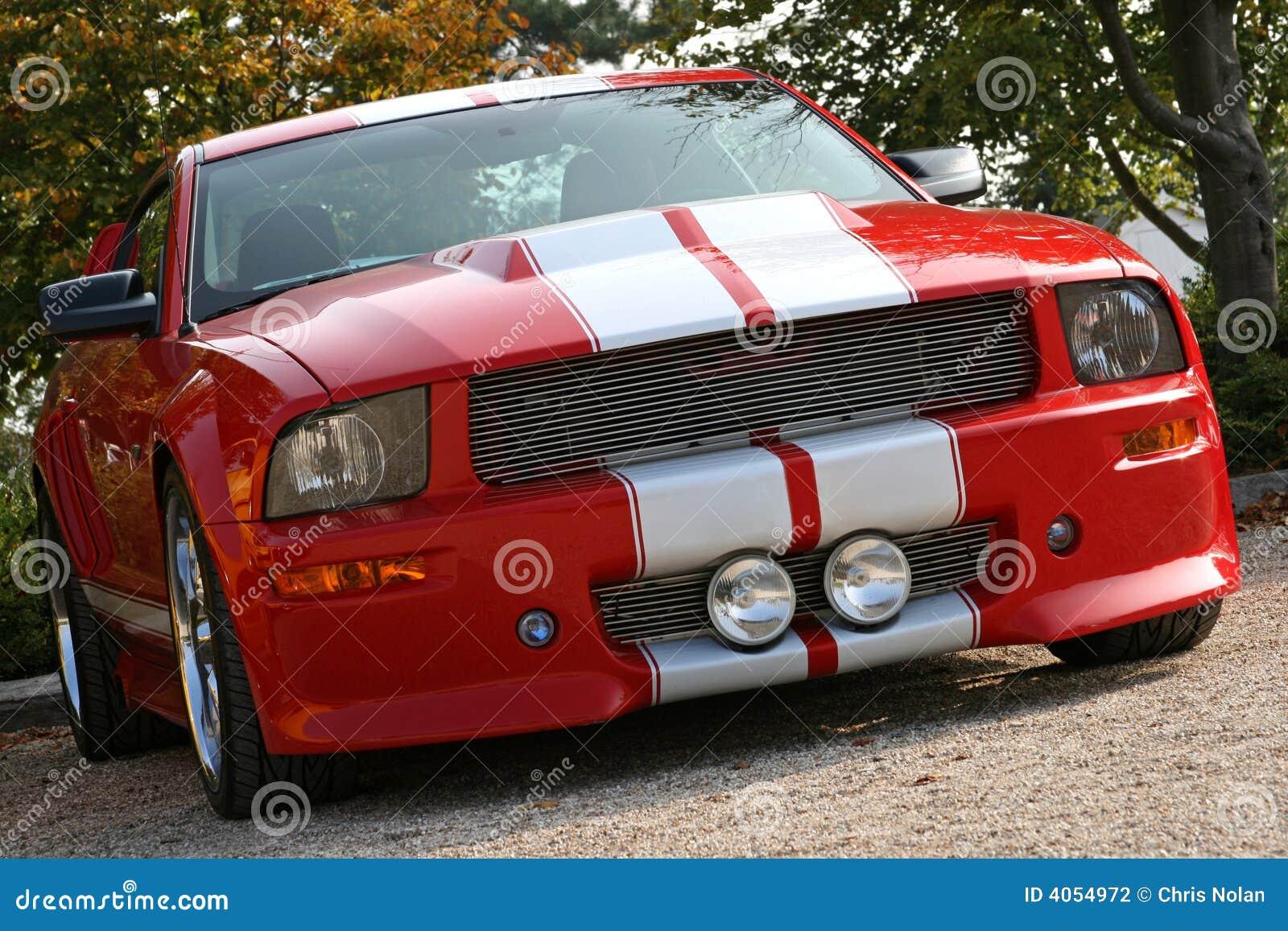 Amerykańska samochód mięsień czerwony
