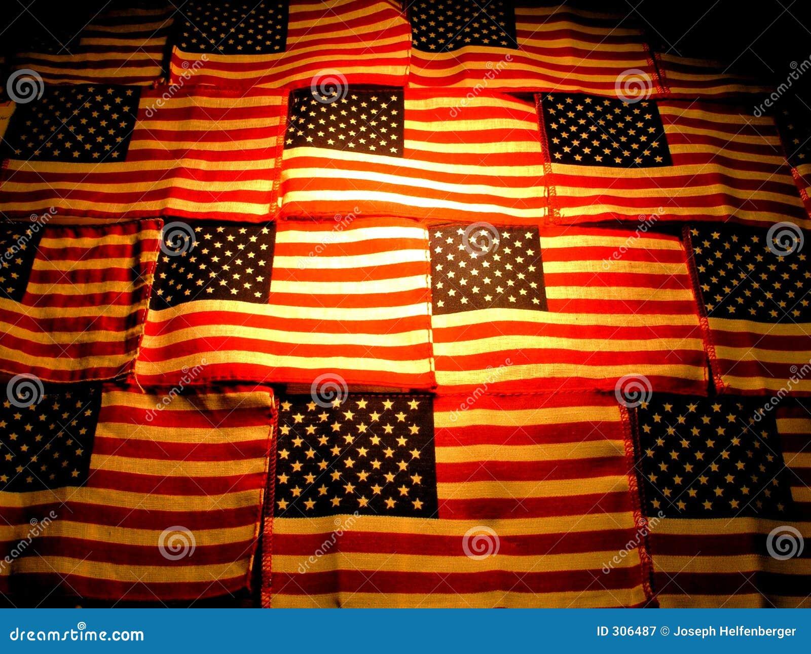 Amerykański kontrastowanie zapalić flagę