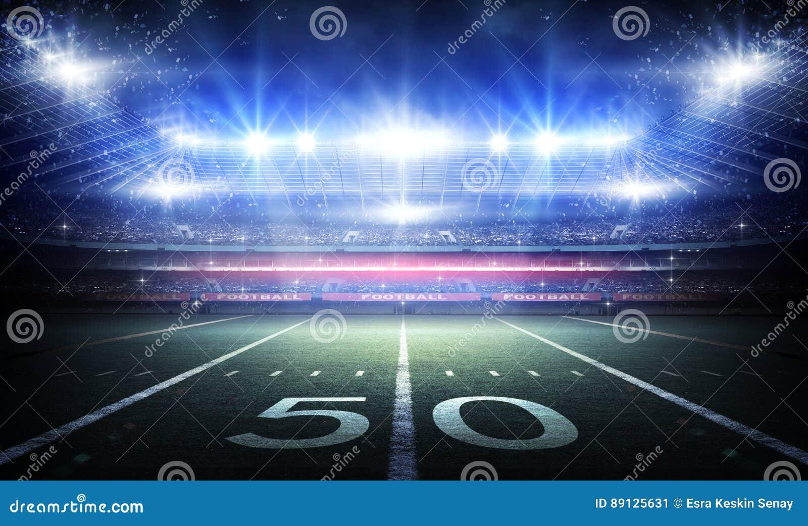 Amerykański stadium piłkarski, 3d rendering