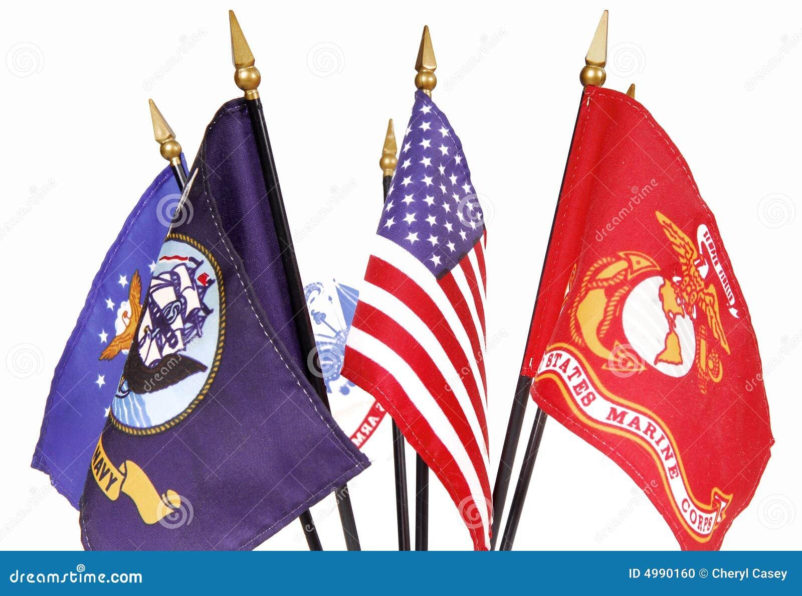 Amerykański wojskowych flagę