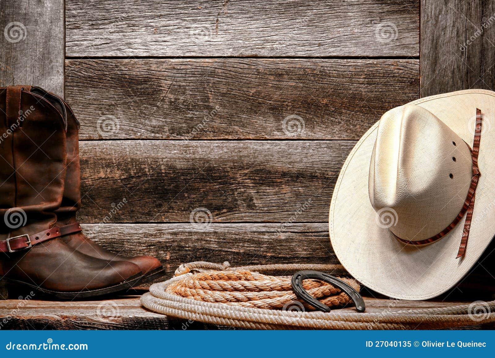 Amerykański Zachodni Rodeo Kowbojski Kapelusz na Lasso z Butami