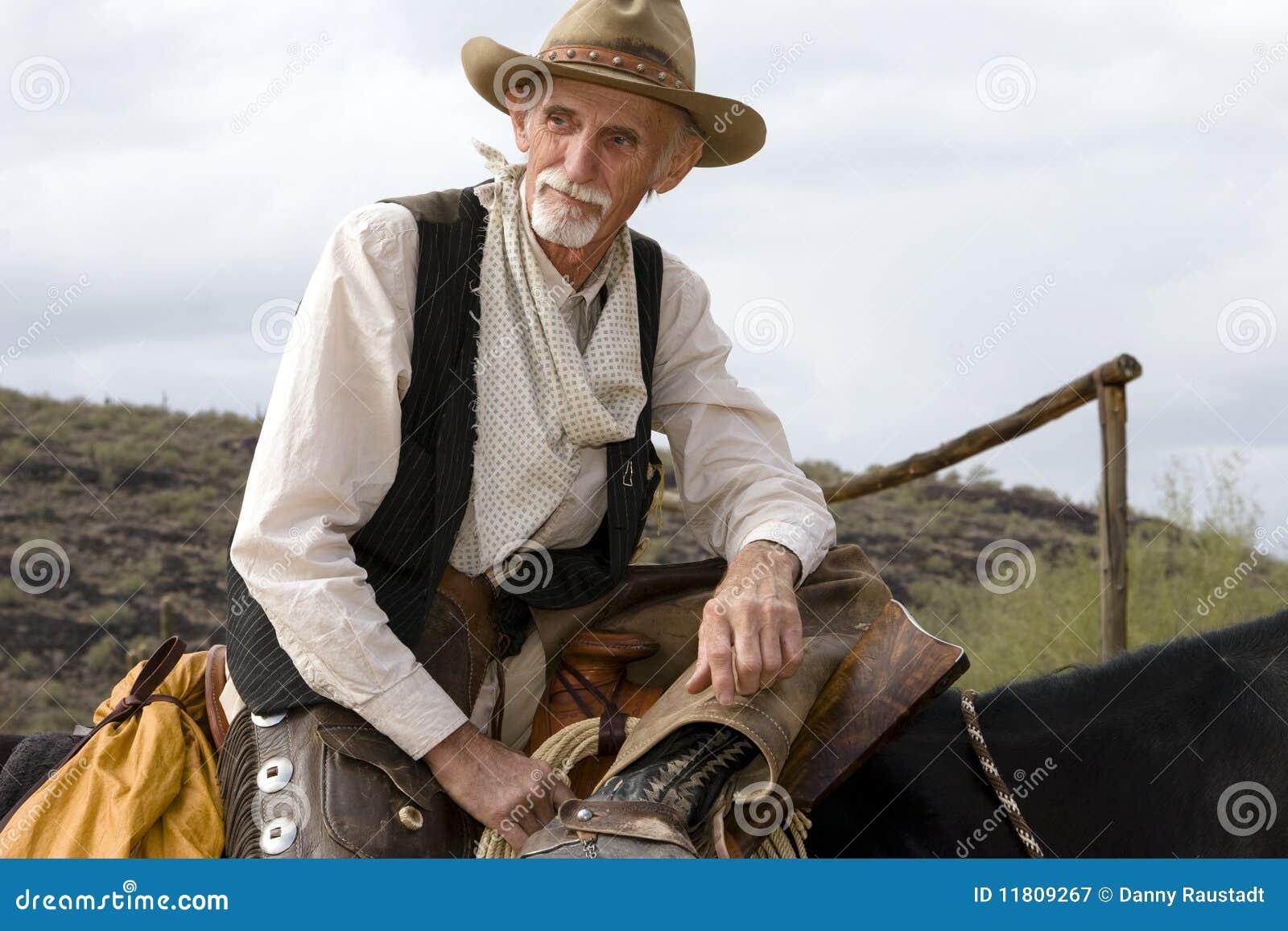 Amerykańskiego kowbojskiego cowhand stary western
