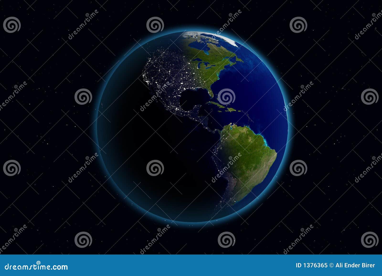 Ameryka dni ziemi noc