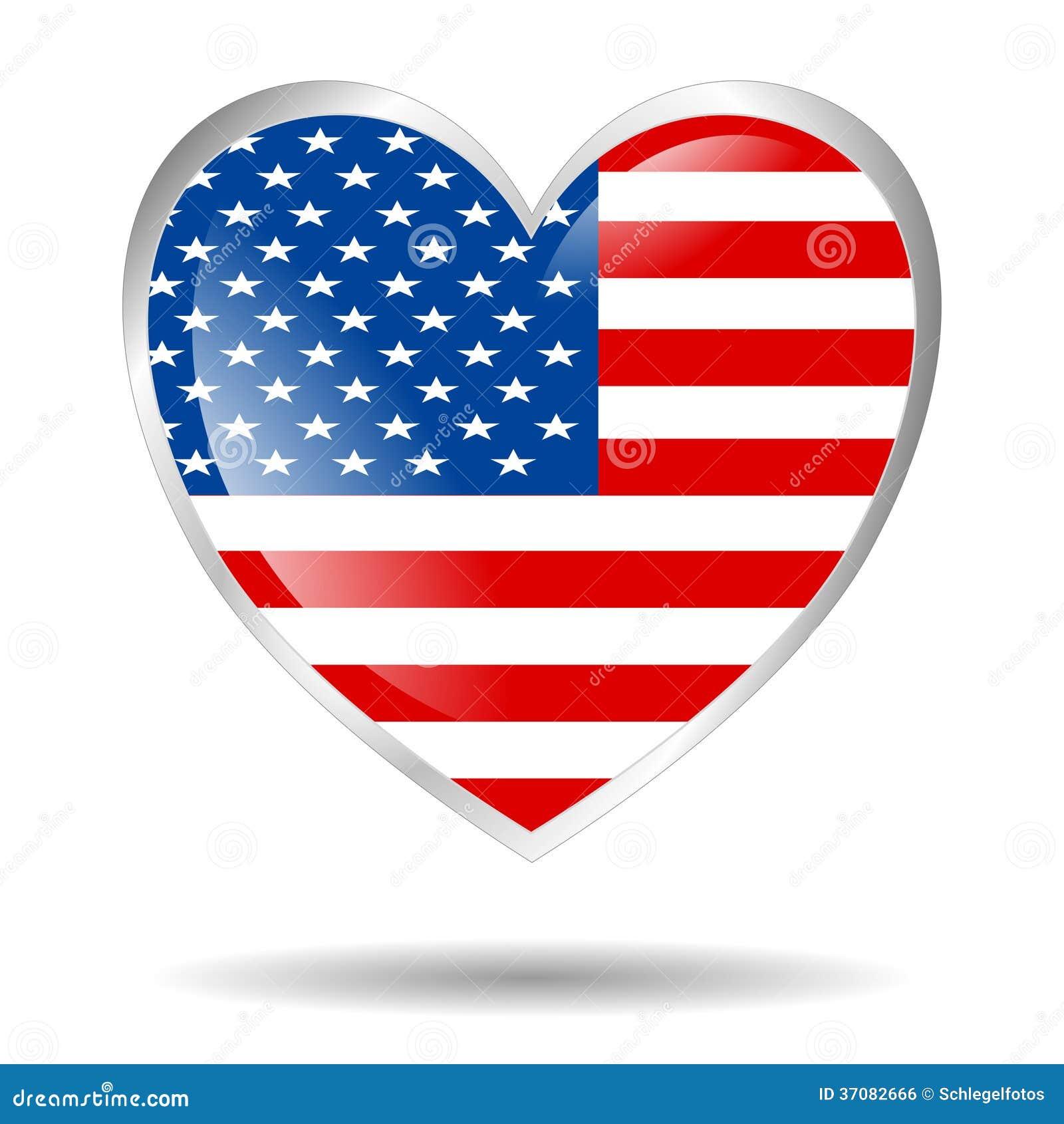 Download Ameryka Serce Odizolowywający Ilustracji - Ilustracja złożonej z foremność, kolor: 37082666
