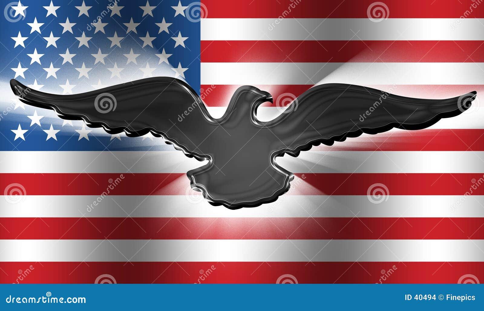 Amerykanów 3 orła flagę