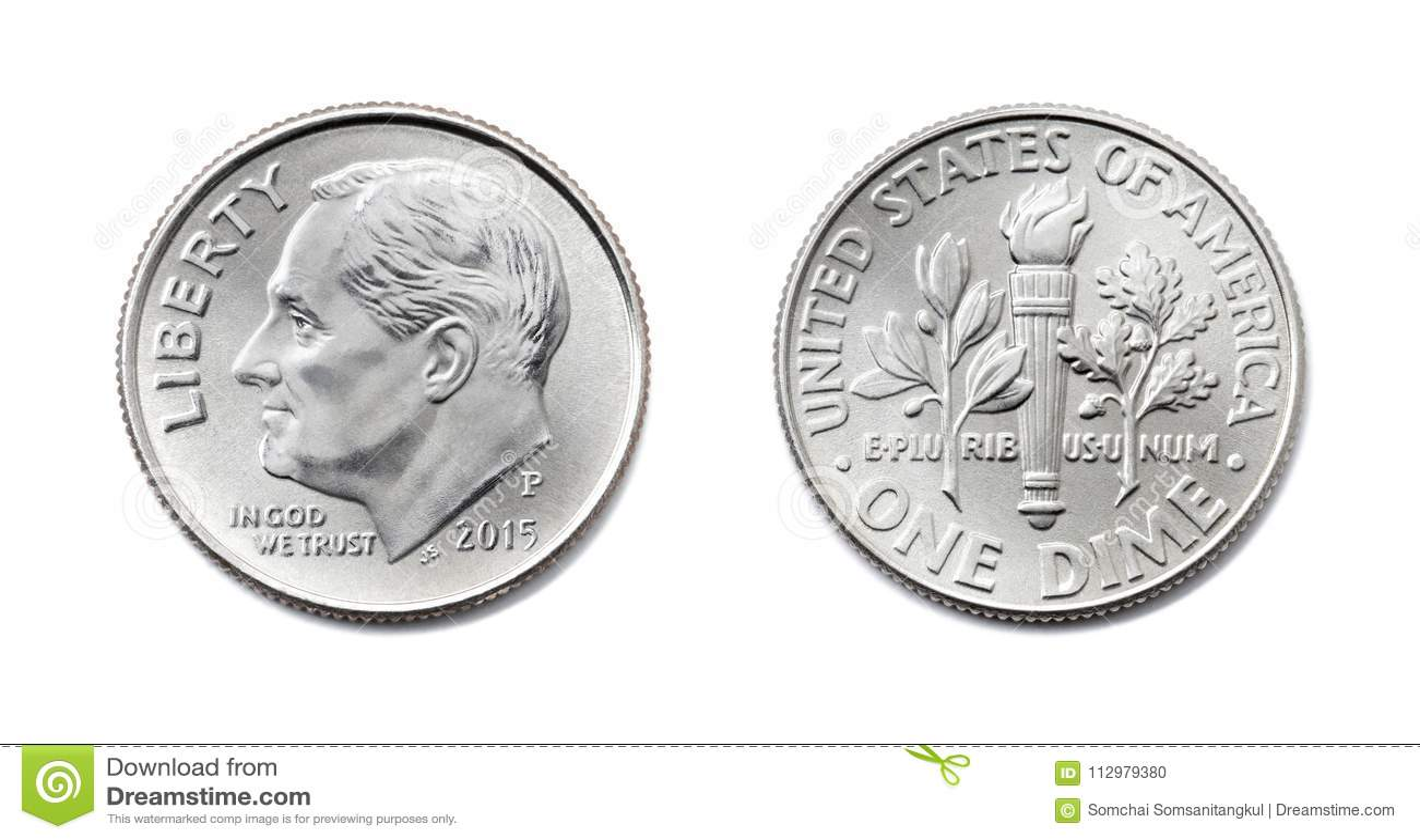 Amerykanin Jeden grosz, usa dziesięć centów, 10 c menniczych obich stron odizolowywa dalej