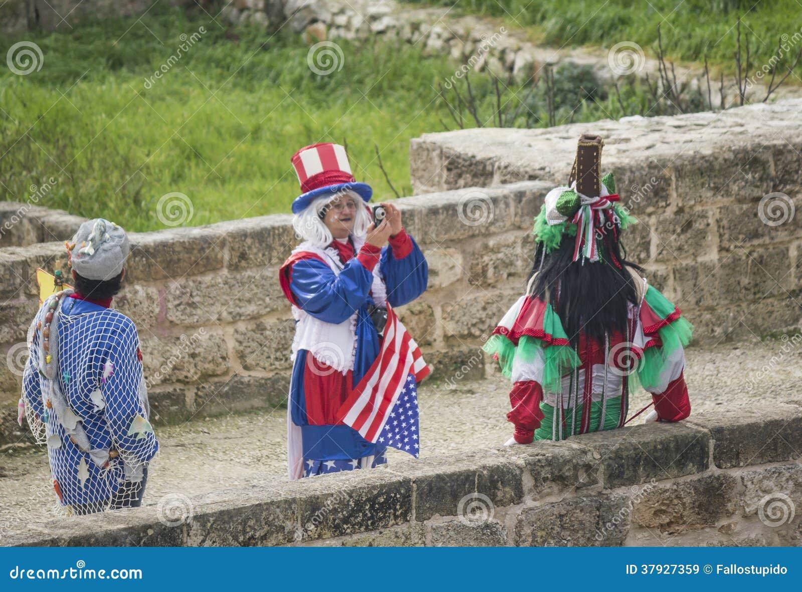 Amerykanin maskowy Venice carneval