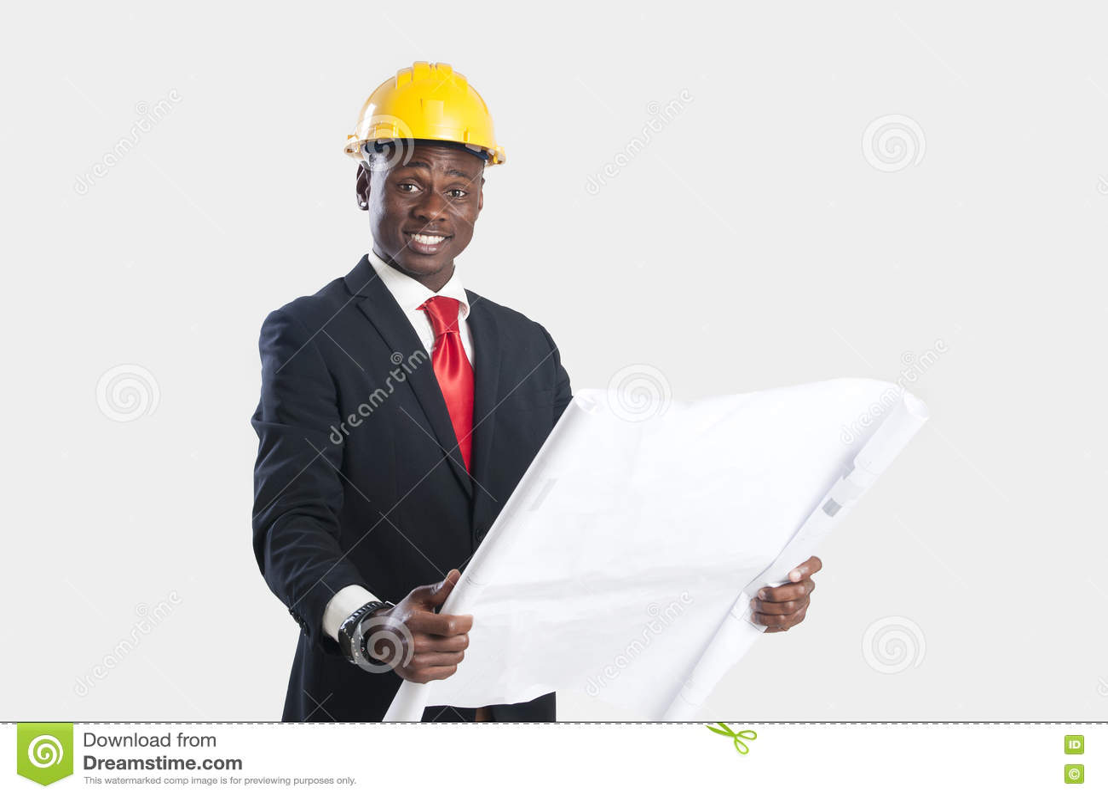 Amerykanina afrykańskiego pochodzenia pracownik budowlany