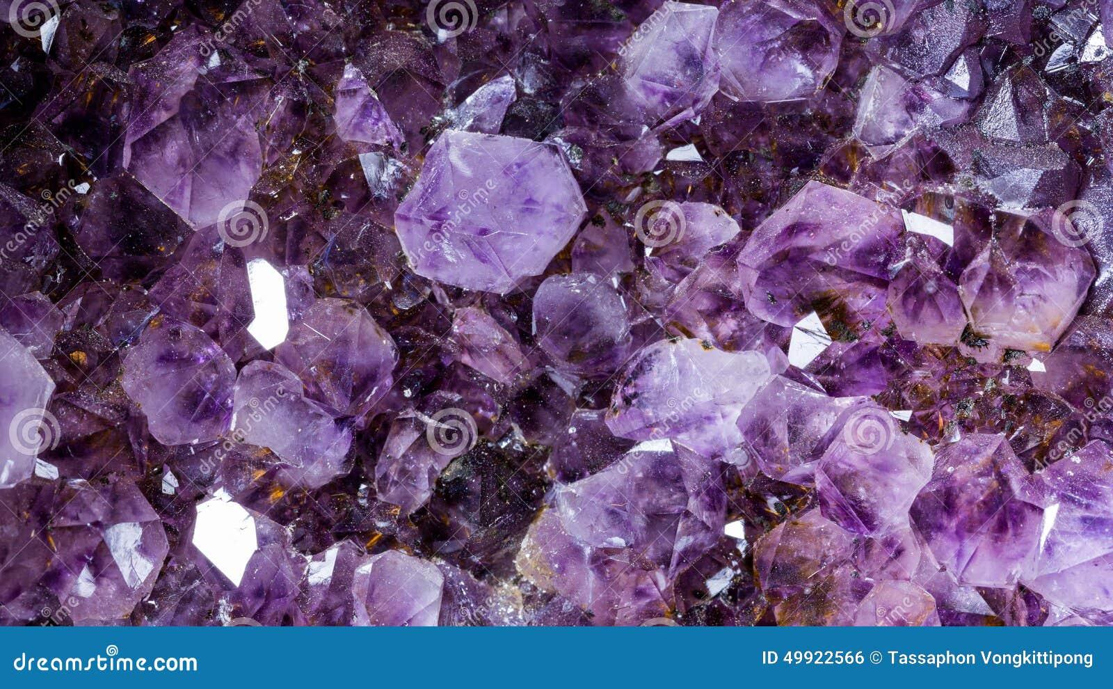 Amethyst Gemstone Macro Stock Photo Image 49922566