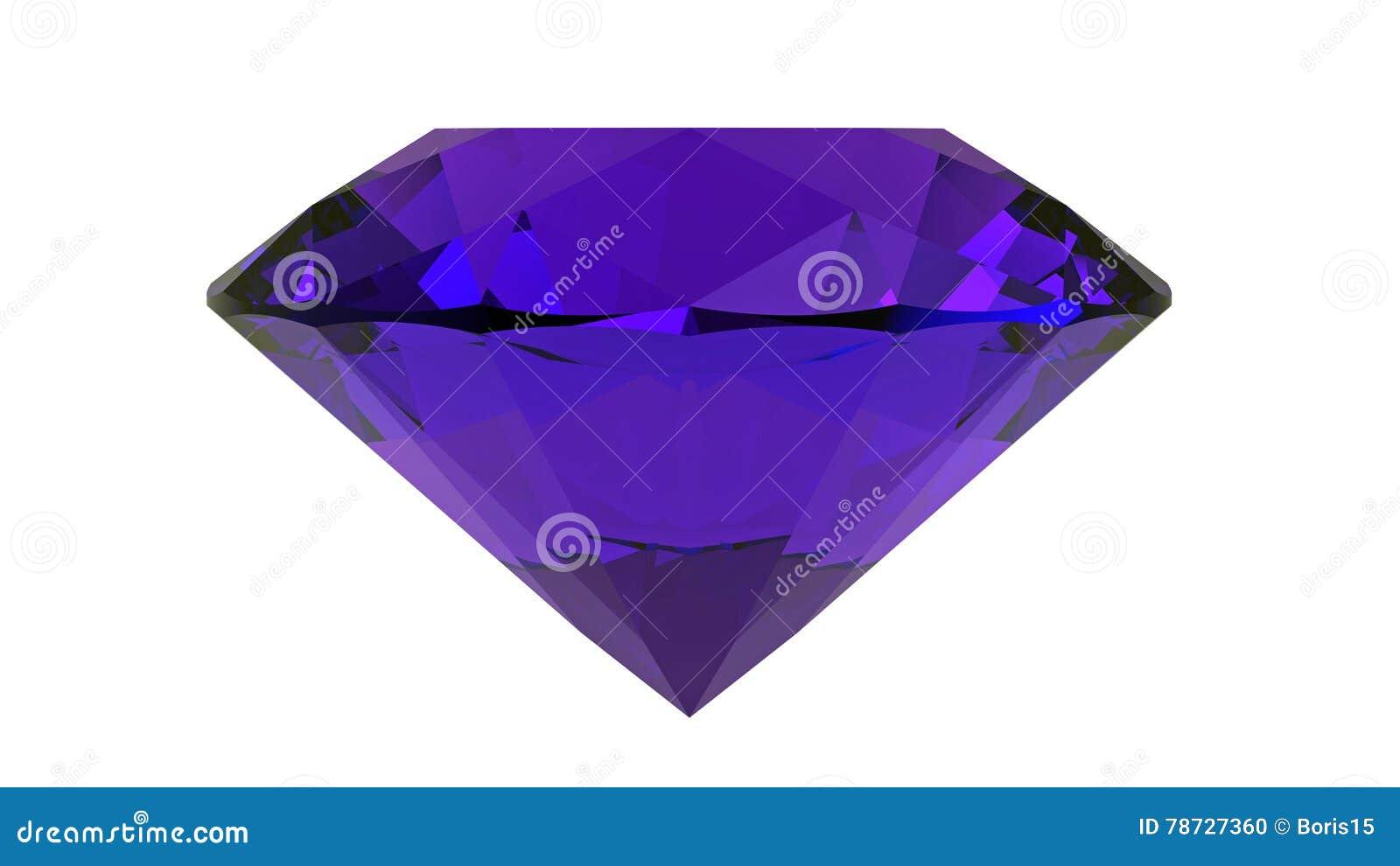 Ametist gemstone, tolkning 3D