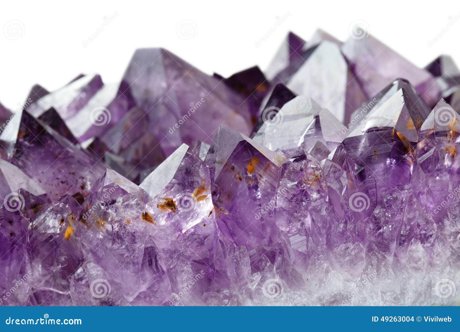 Ametystowi kryształy