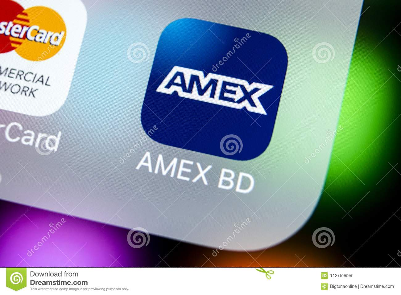 Amex Application Icon On Apple Iphone X Smartphone Screen Close Up American Express App Icon Amex Is An Online Electronic Financ Editorial Stock Image Image Of Editorial Ecommerce 112759999