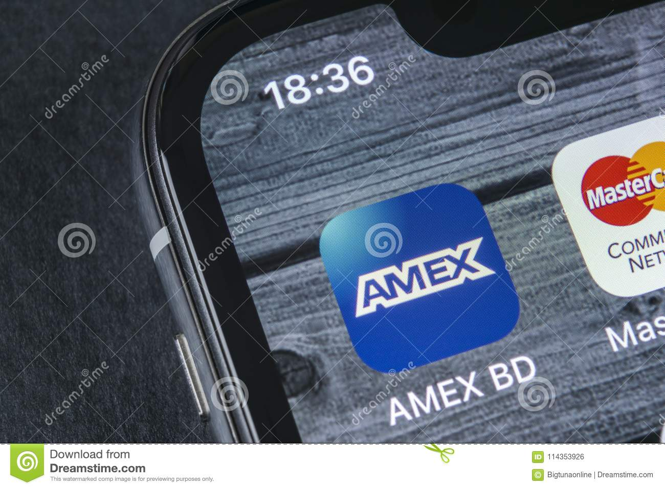 Amex Application Icon On Apple Iphone X Smartphone Screen Close Up Amex App Icon Amex Is An Online Electronic Finance Payment Editorial Photo Image Of Online April 114353926