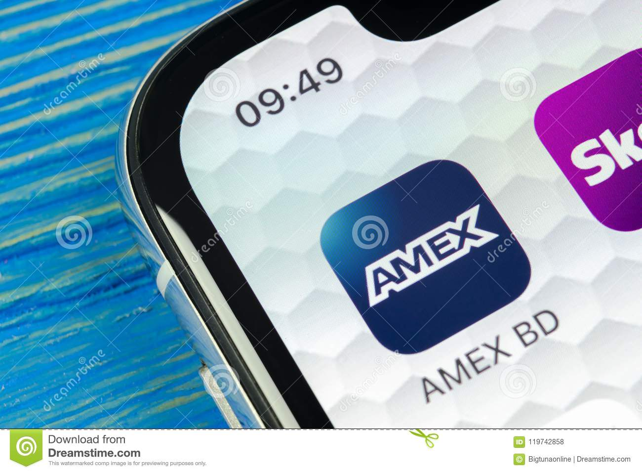 Amex Application Icon On Apple Iphone X Smartphone Screen Close Up Amex App Icon American Express Is An Online Electronic Financ Editorial Stock Photo Image Of Payment Marketing 119742858