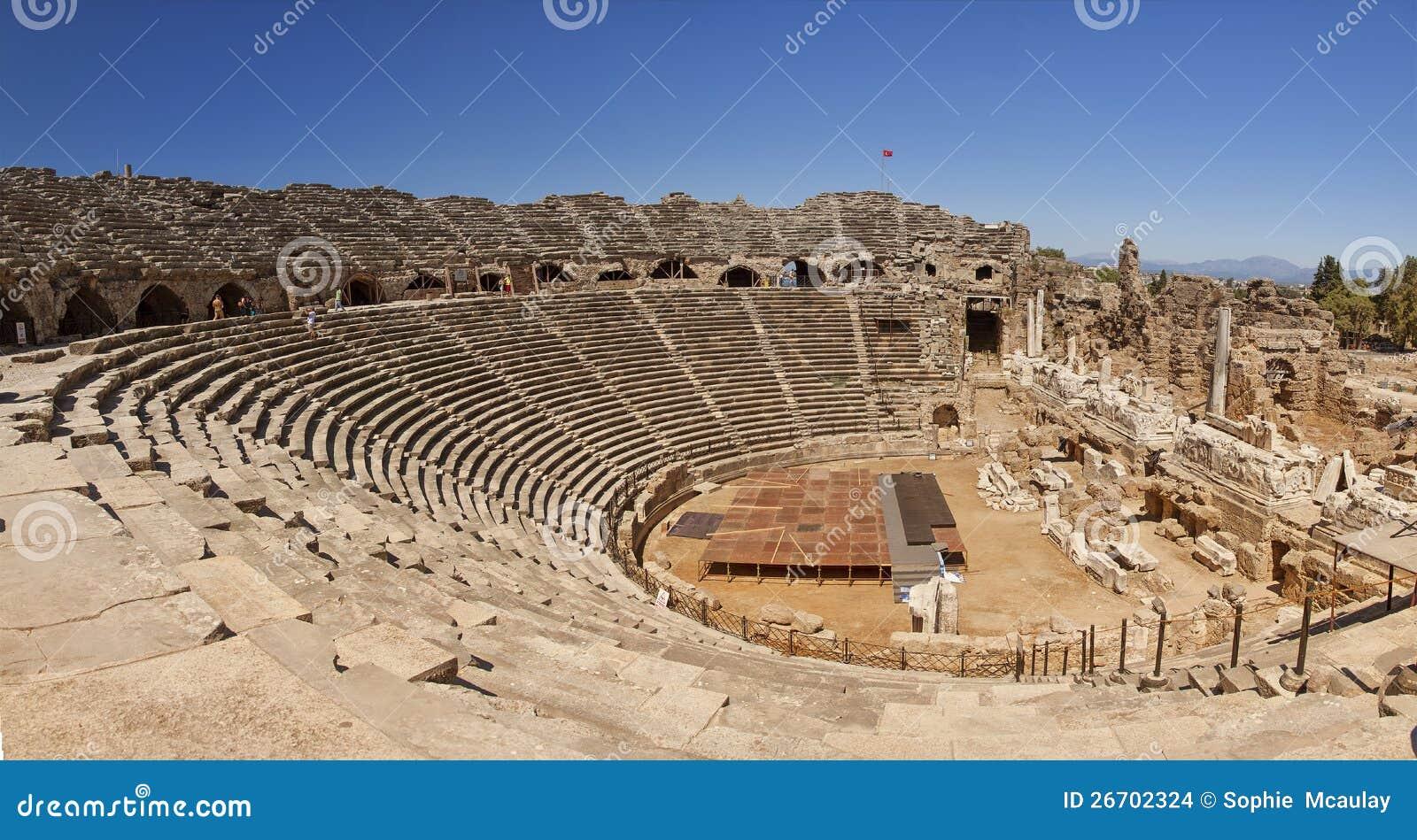 Amfiteater i sidan Turkiet