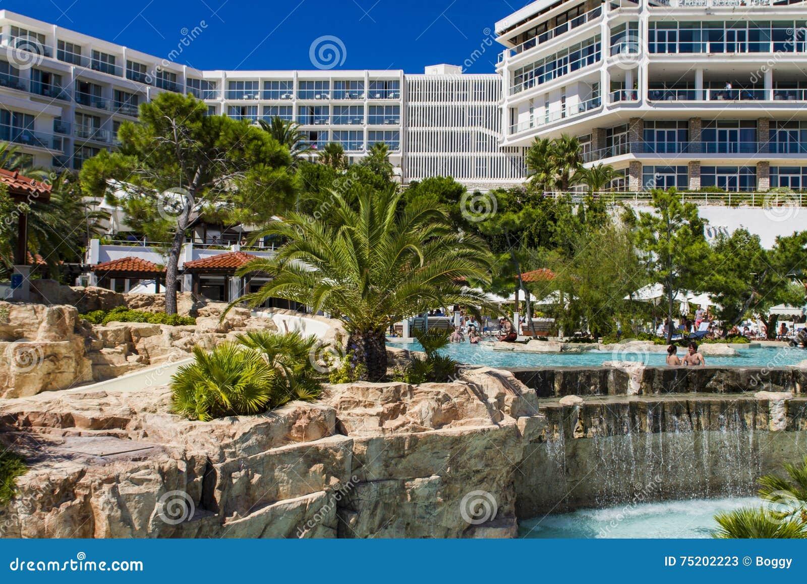 Amfora Hotel Bei Hvar Kroatien Redaktionelles Stockfoto Bild