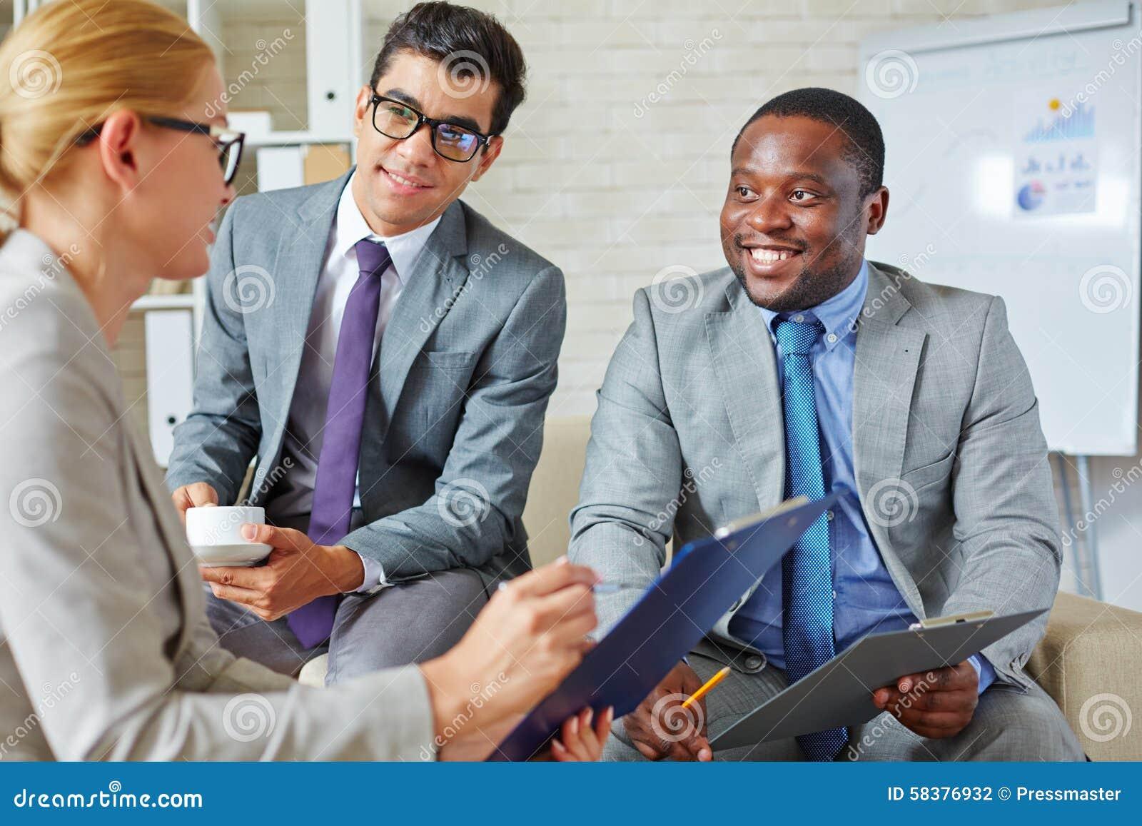 Amiable partners stock photo. Image of employee, agent