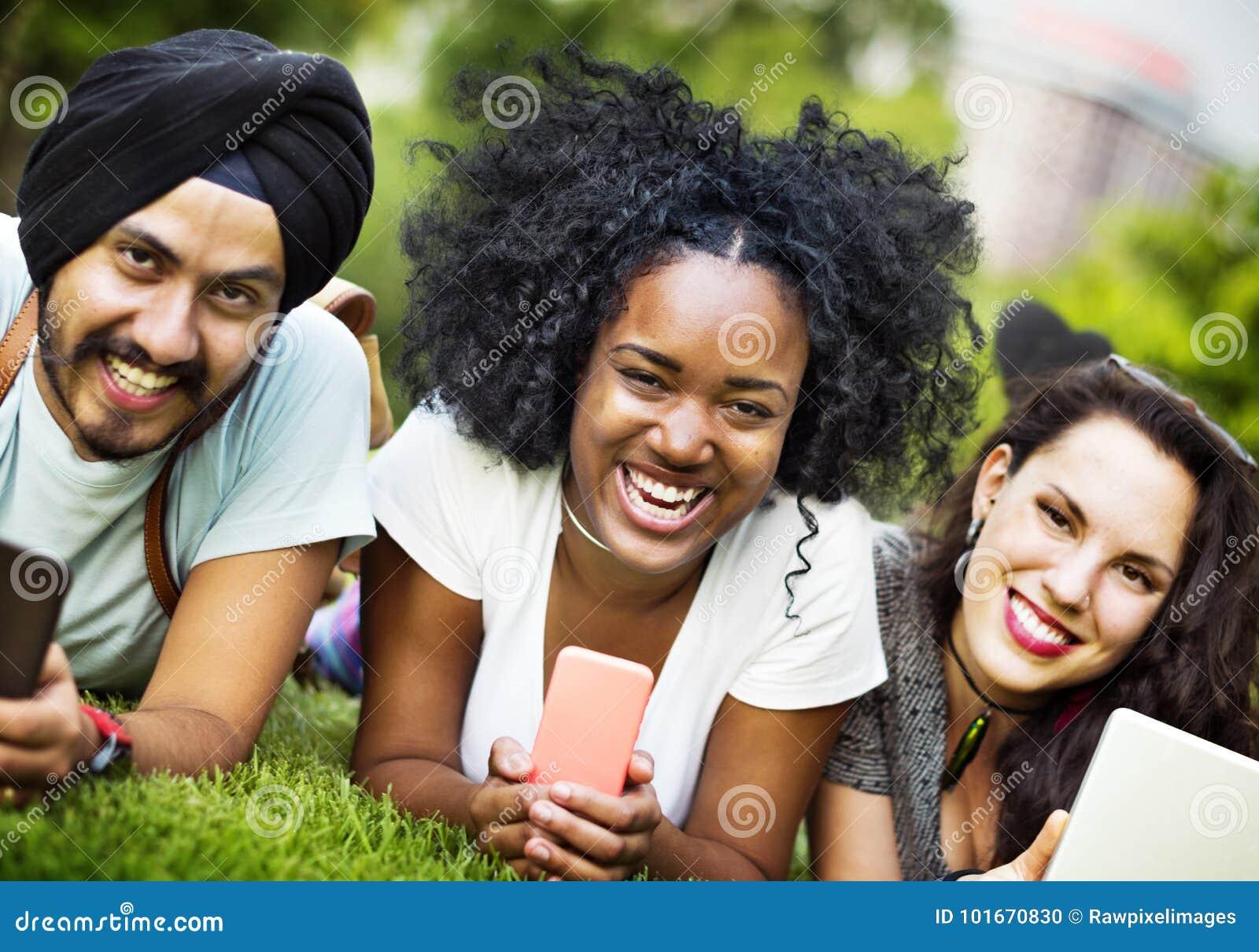 Amici Team Togetherness Unity Concept della Comunità di legame