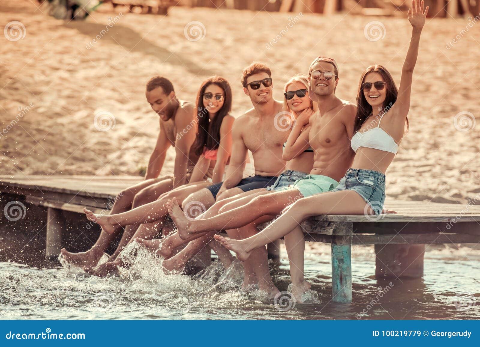 Amigos no mar