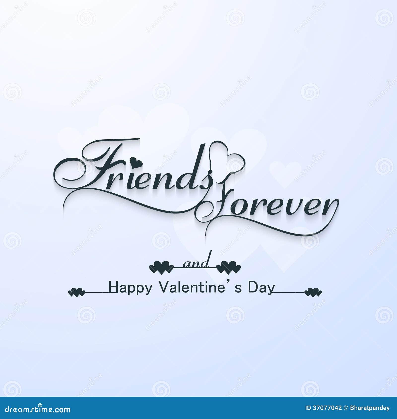 Tarjeta de San Valentín amigos para siempre