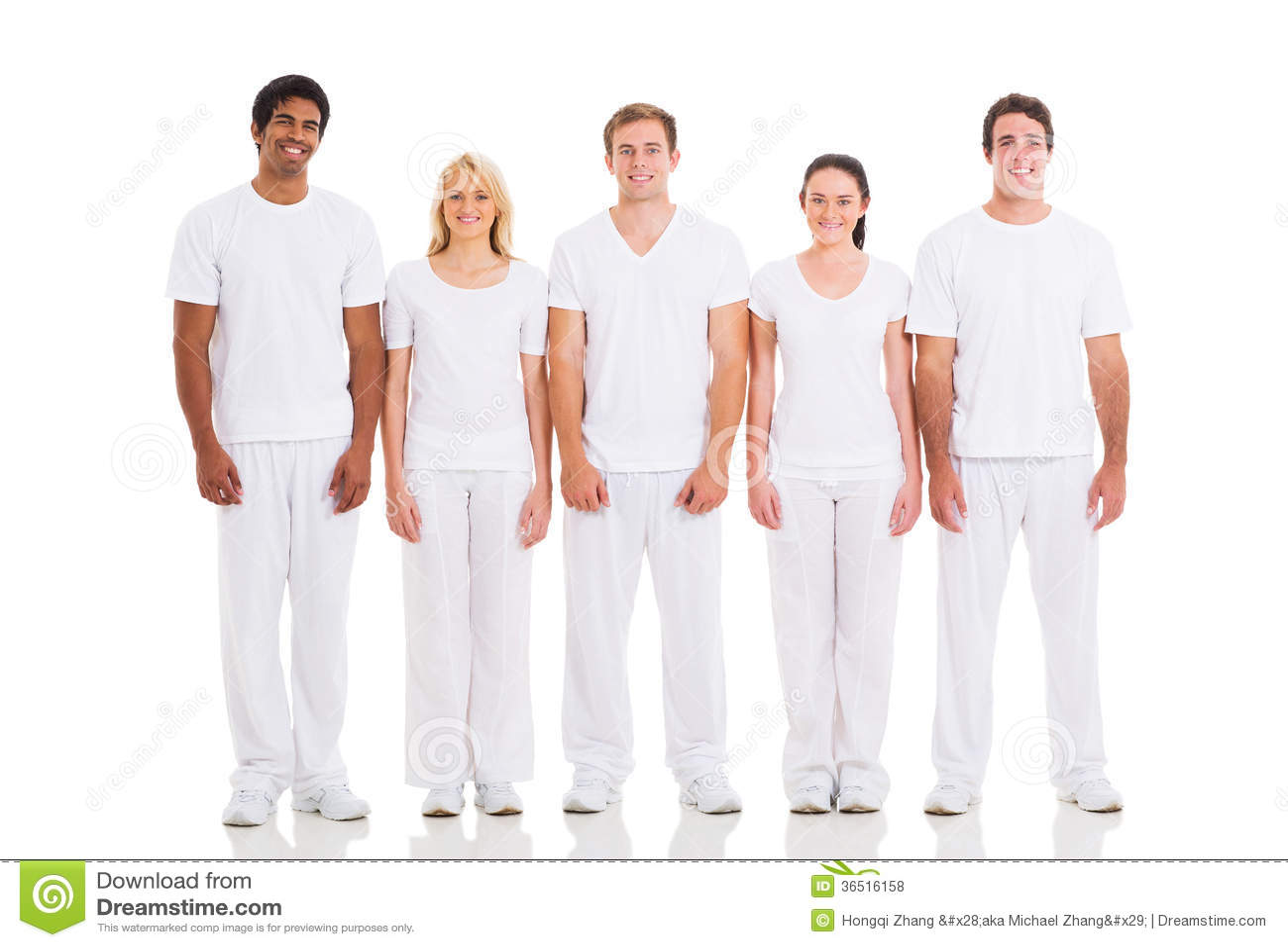 Amis se tenant blancs