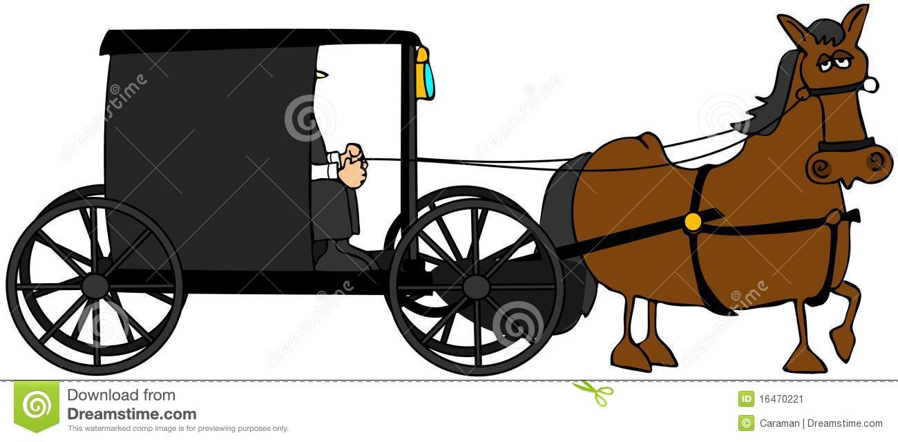 Royal carriage in silhouette royalty free stock vector art - Amish Buggy Stock Image Image 16470221