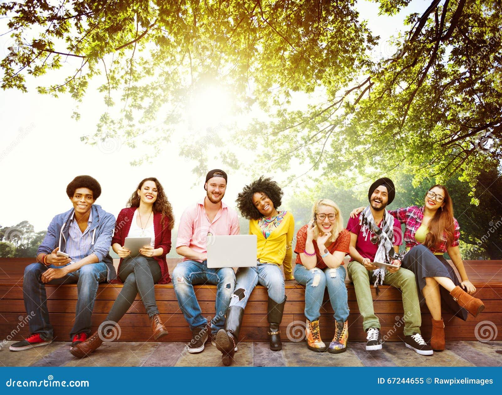 Amitié Team Concept d amis d adolescents de diversité