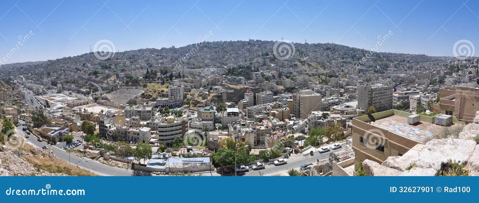 amman die hauptstadt von jordanien stockbild bild 32627901. Black Bedroom Furniture Sets. Home Design Ideas