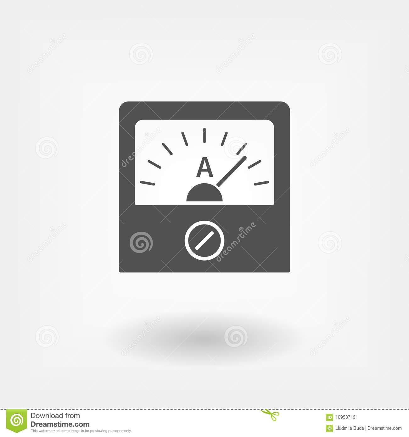 Ammeter icon, sign design. stock vector. Illustration of connection ...