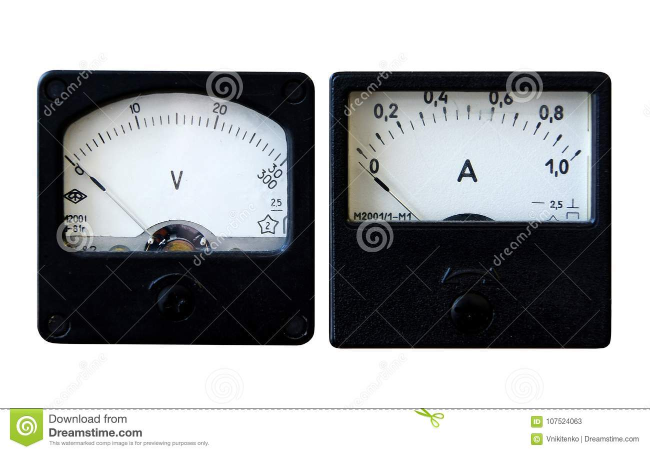 Ammeter and voltmeter stock image. Image of energy, electric - 107524063 for Analog Ammeter And Voltmeter  59nar