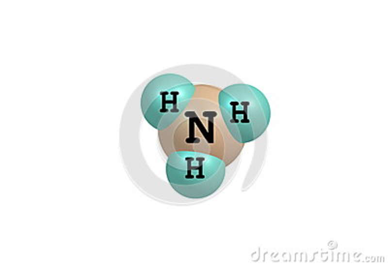 Ammonium Molecular Structure Isolated On White Stock Illustration