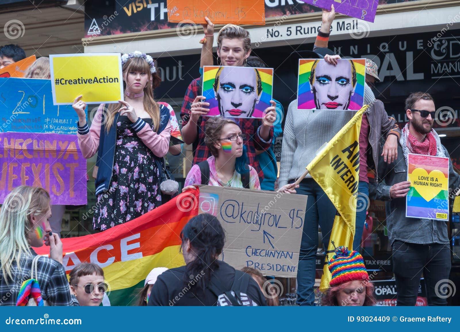 Amnesty International Czeczenia protest