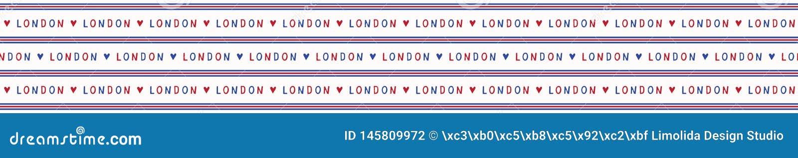 Amo el modelo incons?til del vector del texto de las letras de Londres Brit?nicos hist?ricos famosos